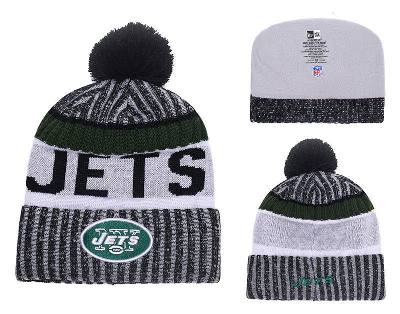 Jets Team Logo 2017 Sideline Knit Hat YD