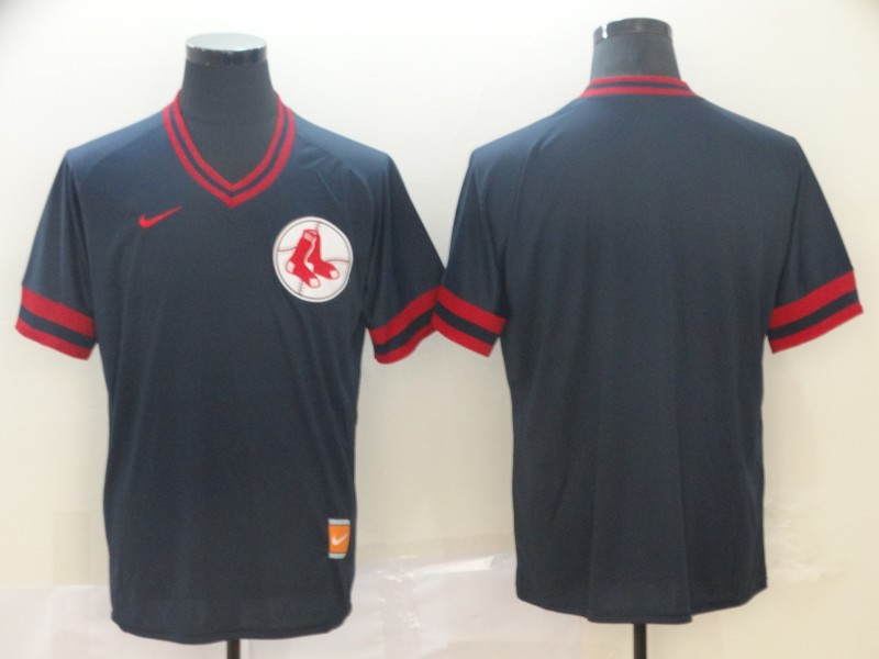 Red Sox Blank Navy Throwback Jersey