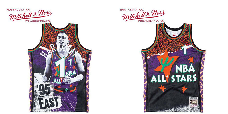 Magic 1 Anfernee Hardaway Black Mitchell & Ness 2019 NBA All Star Game 1995 Fashion Jersey