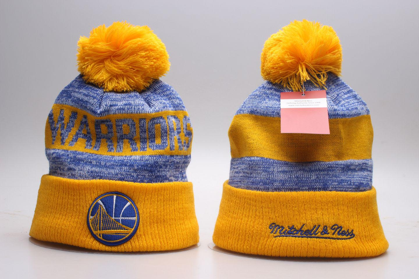 Warriors Team Logo Mitchell & Ness Knit Hat YP