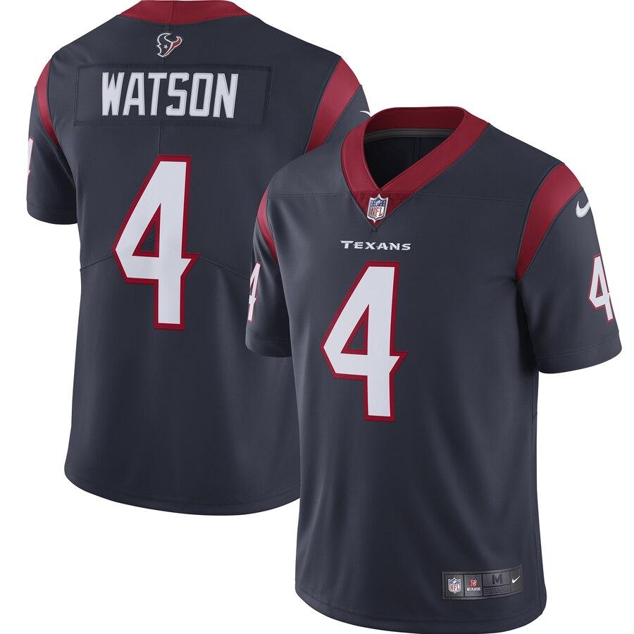 Nike Texans 4 Deshaun Watson Navy Youth New 2019 Vapor Untouchable Limited Jersey