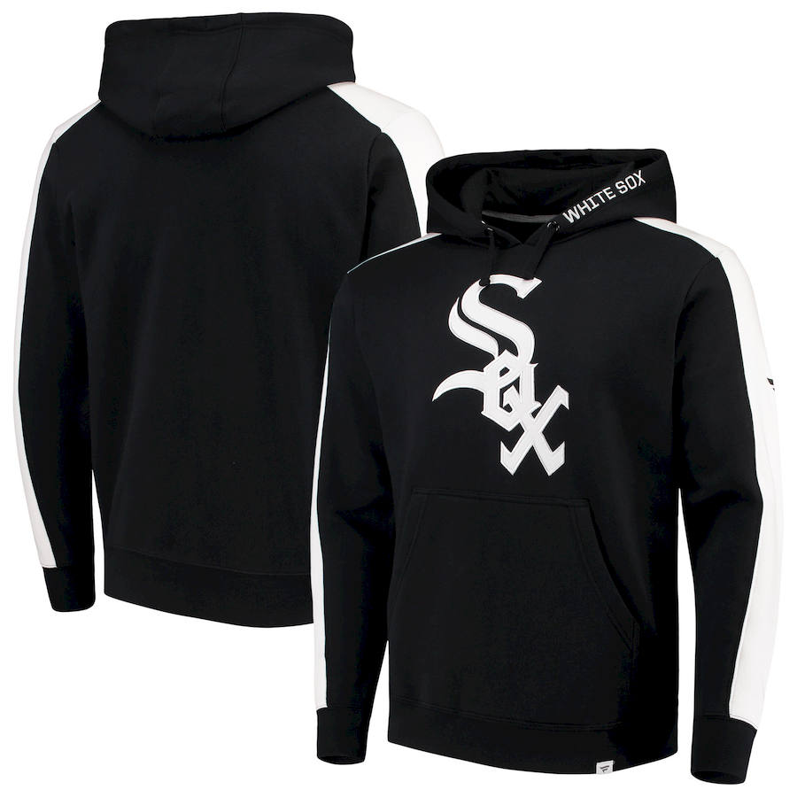 Chicago White Sox Fanatics Branded Iconic Fleece Pullover Hoodie Black & White