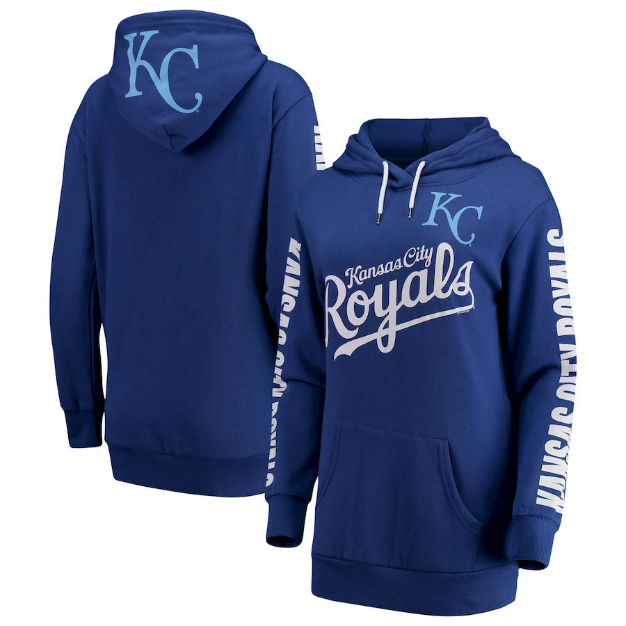 Kansas City Royals G III 4Her by Carl Banks Women's Extra Innings Pullover Hoodie Royal