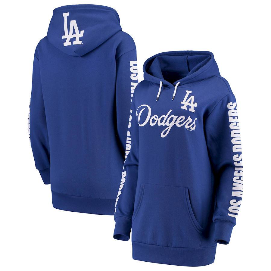 Los Angeles Dodgers G III 4Her by Carl Banks Women's Extra Innings Pullover Hoodie Royal