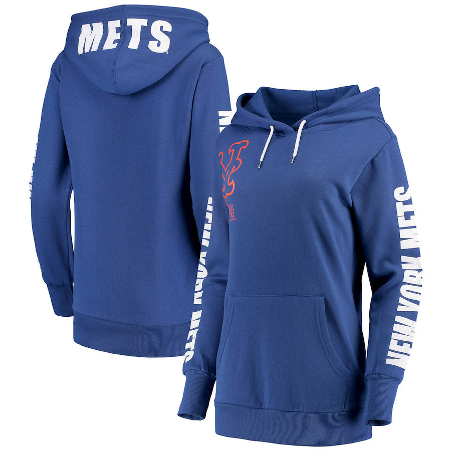 New York Mets G III 4Her by Carl Banks Women's 12th Inning Pullover Hoodie Royal