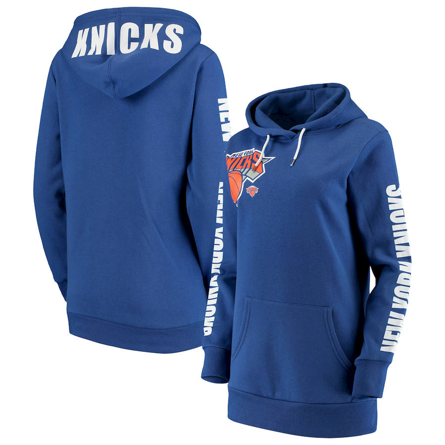 New York Knicks G III 4Her by Carl Banks Women's Overtime Pullover Hoodie Blue