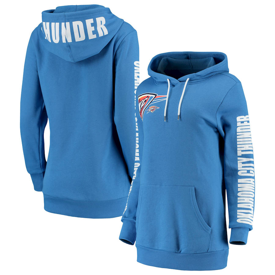 Oklahoma City Thunder G III 4Her by Carl Banks Women's Overtime Pullover Hoodie Blue