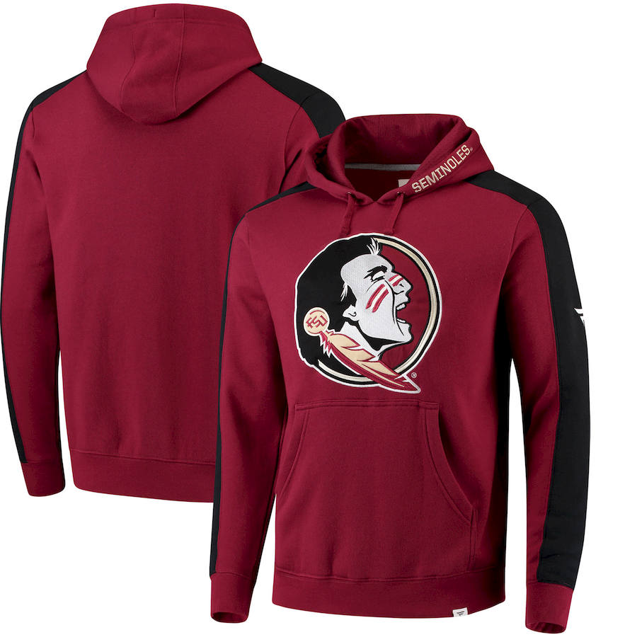 Florida State Seminoles Fanatics Branded Iconic Colorblocked Fleece Pullover Hoodie Garnet