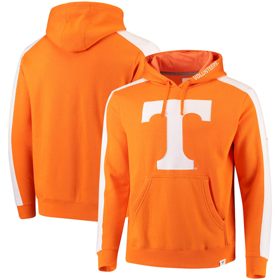 Tennessee Volunteers Fanatics Branded Iconic Colorblocked Fleece Pullover Hoodie Tennessee Orange