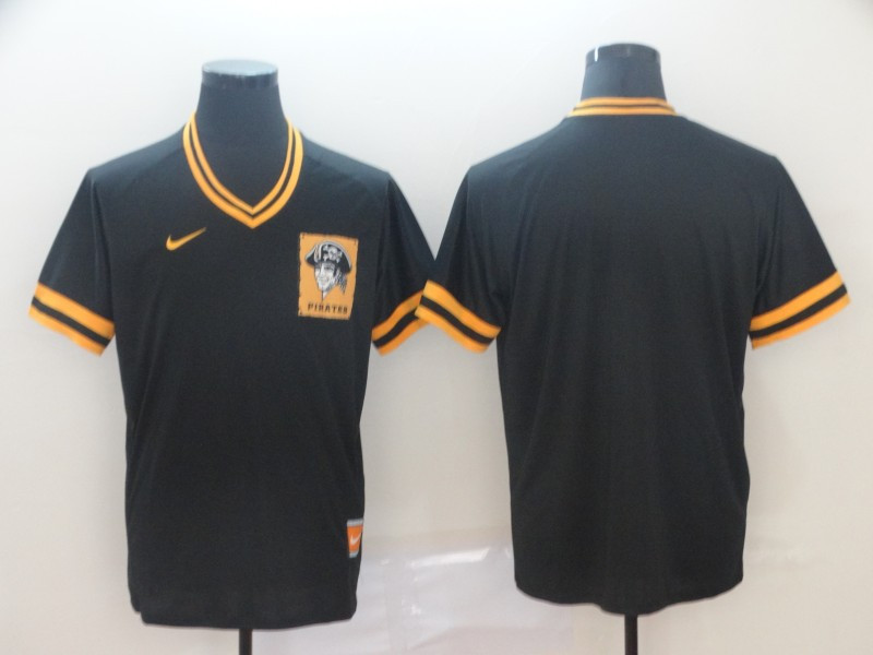 Pirates Blank Black Throwback Jersey
