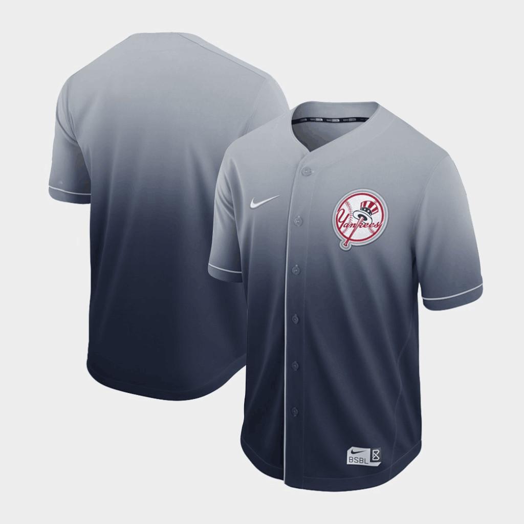 Yankees Blank Gray Drift Fashion Jersey