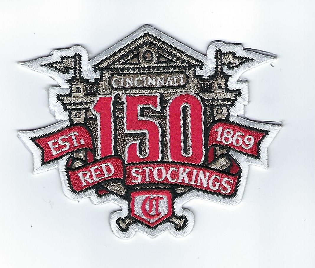 Cincinnati Reds 150th Anniversary Patch
