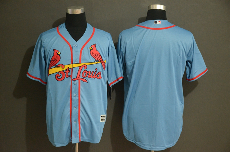 Cardinals Blank Light Blue Cool Base Jersey