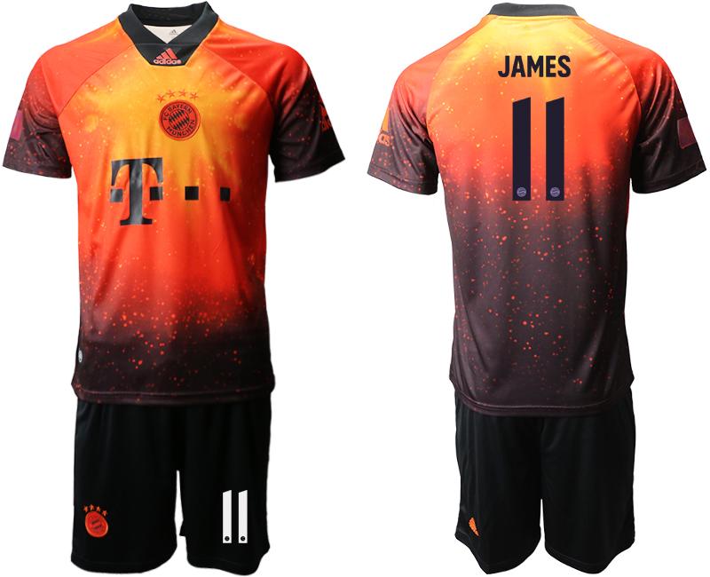 2018-19 Bayern Munich 11 JAMES FIFA Digital Kit Soccer Jersey