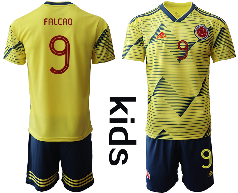 2019-20 Colombia 9 FALCAO Youth Home Soccer Jersey