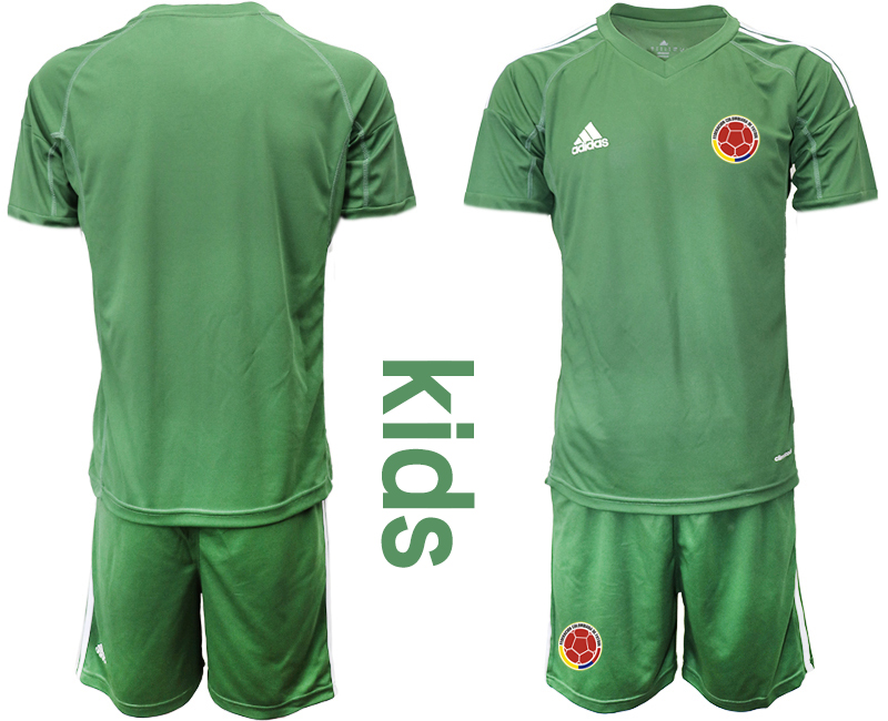 2019-20 Colombia Army Green Youth Goalkeeper Soccer Jersey