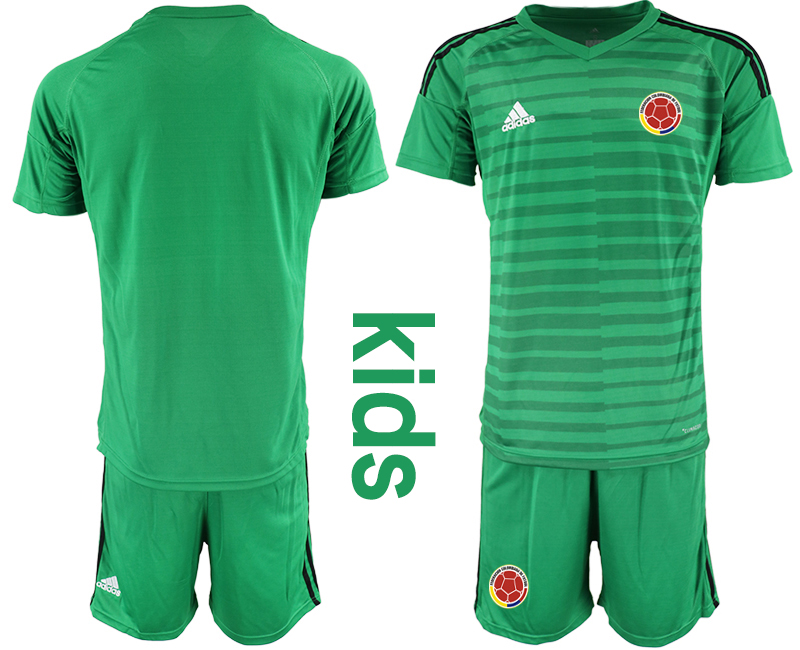 2019-20 Colombia Green Youth Goalkeeper Soccer Jersey