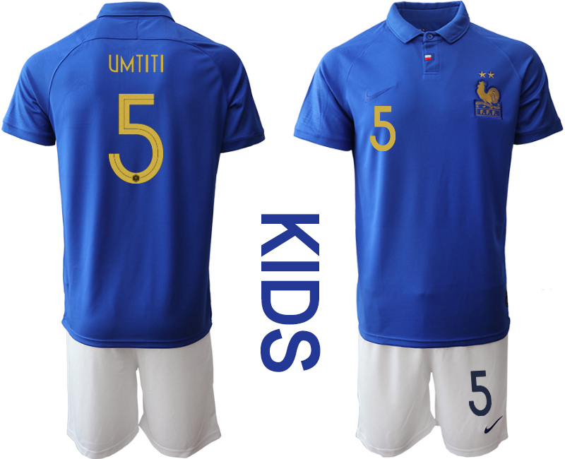 2019-20 France 5 UMTITI Youth Centenary Edition Soccer Jersey