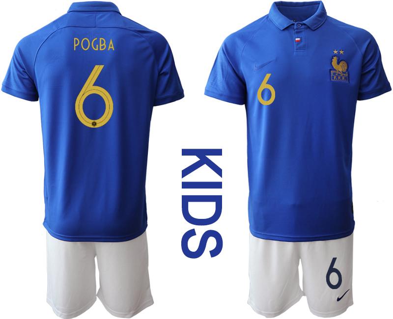2019-20 France 6 POGBA Youth Centenary Edition Soccer Jersey