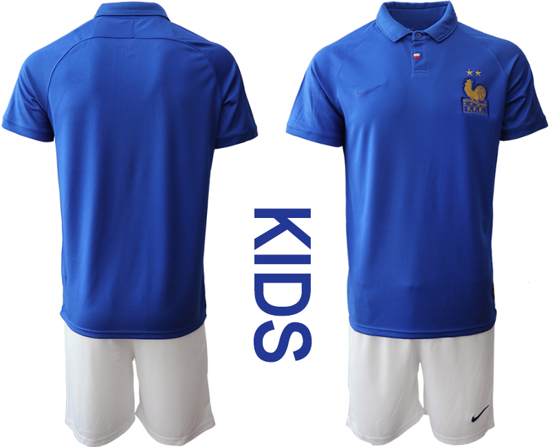 2019-20 France Youth Centenary Edition Soccer Jersey