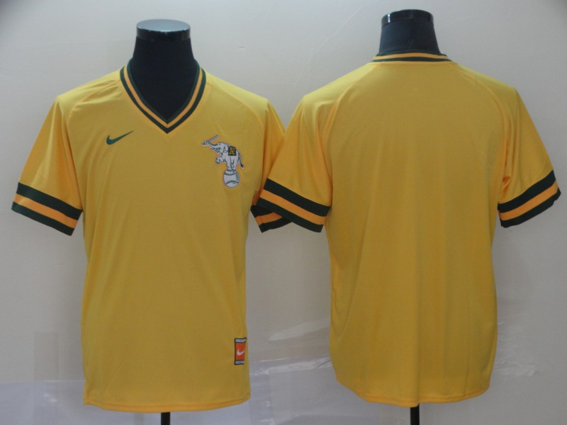 Athletics Blank Yellow Throwback Jersey