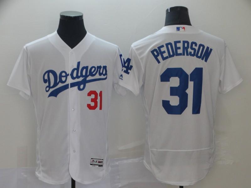 Dodgers 31 Joc Pederson White Flexbase Jersey