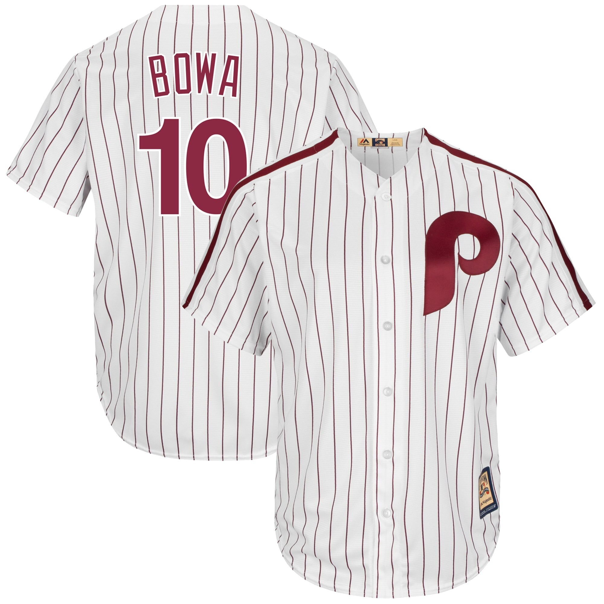 Phillies 10 Larry Bowa White Cooperstown Collection Cool Base Jersey