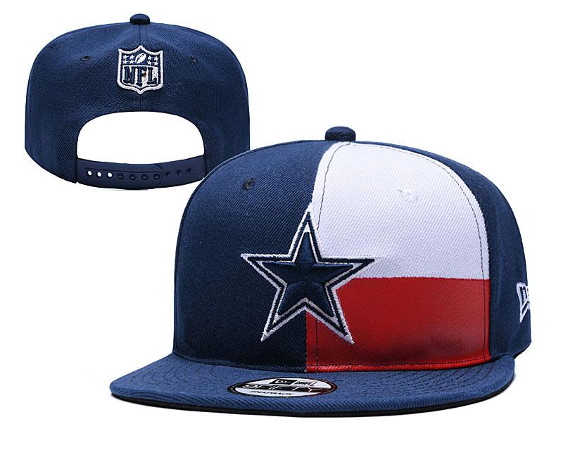 Cowboys Team Logo Navy Red 2019 Draft Adjustable Hat YD
