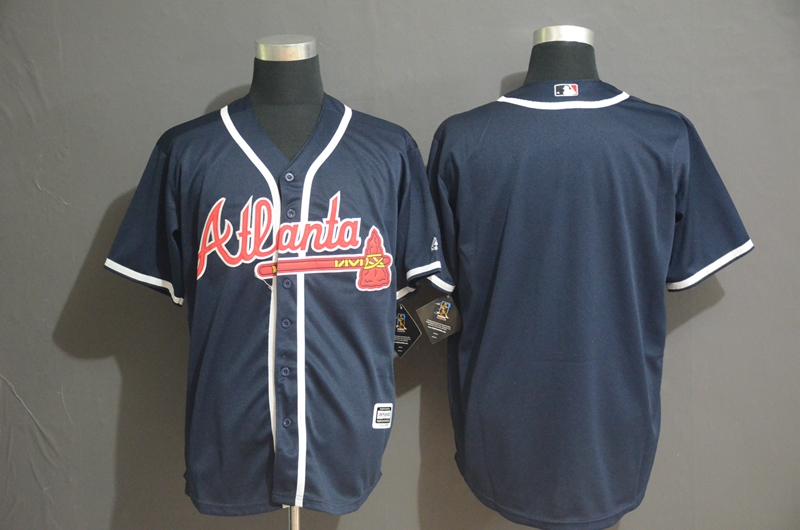 Braves Blank Navy Cool Base Jersey