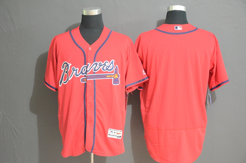 Braves Blank Red Flexbase Jersey