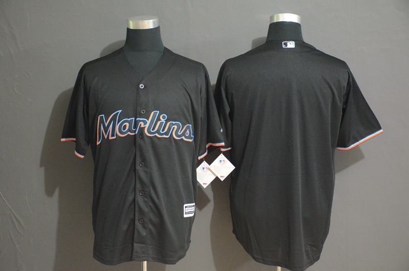 Marlins Blank Black Cool Base Jersey