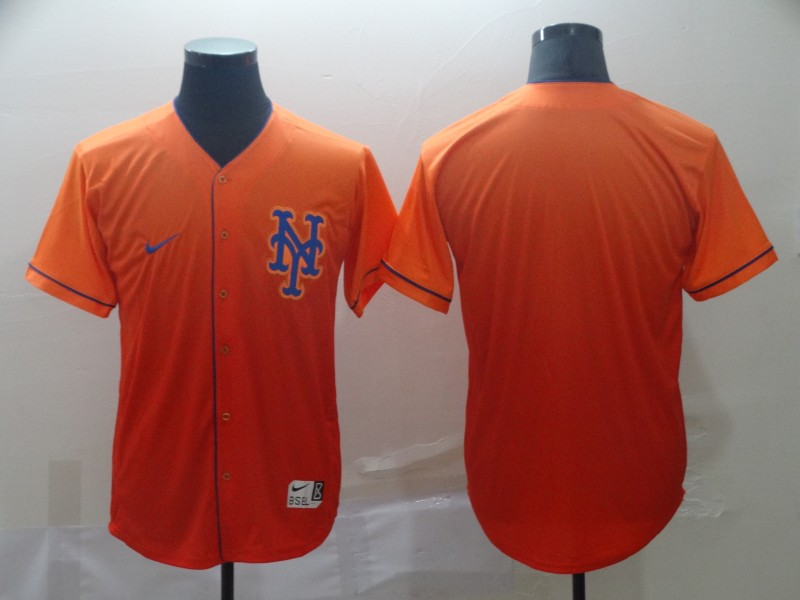 Mets Blank Orange Drift Fashion Jersey