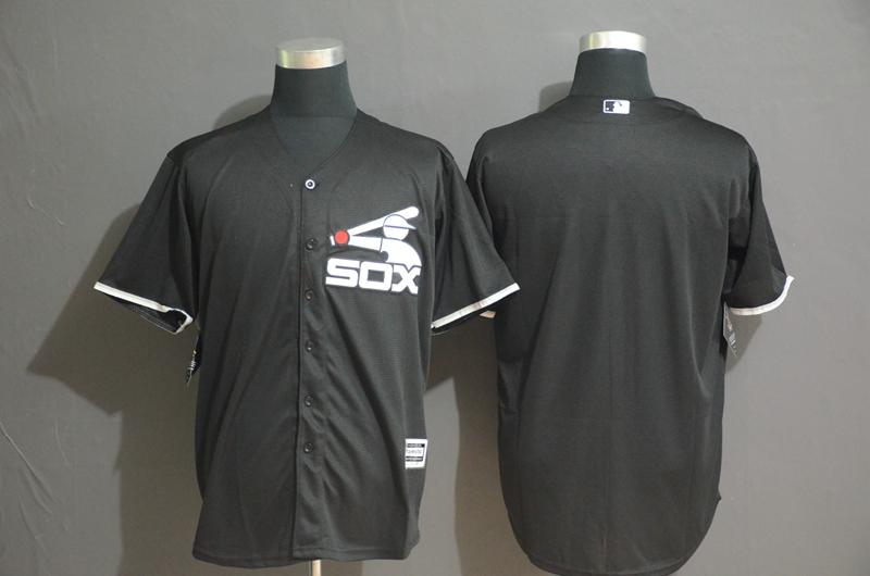 White Sox Blank Black Cool Base Jersey