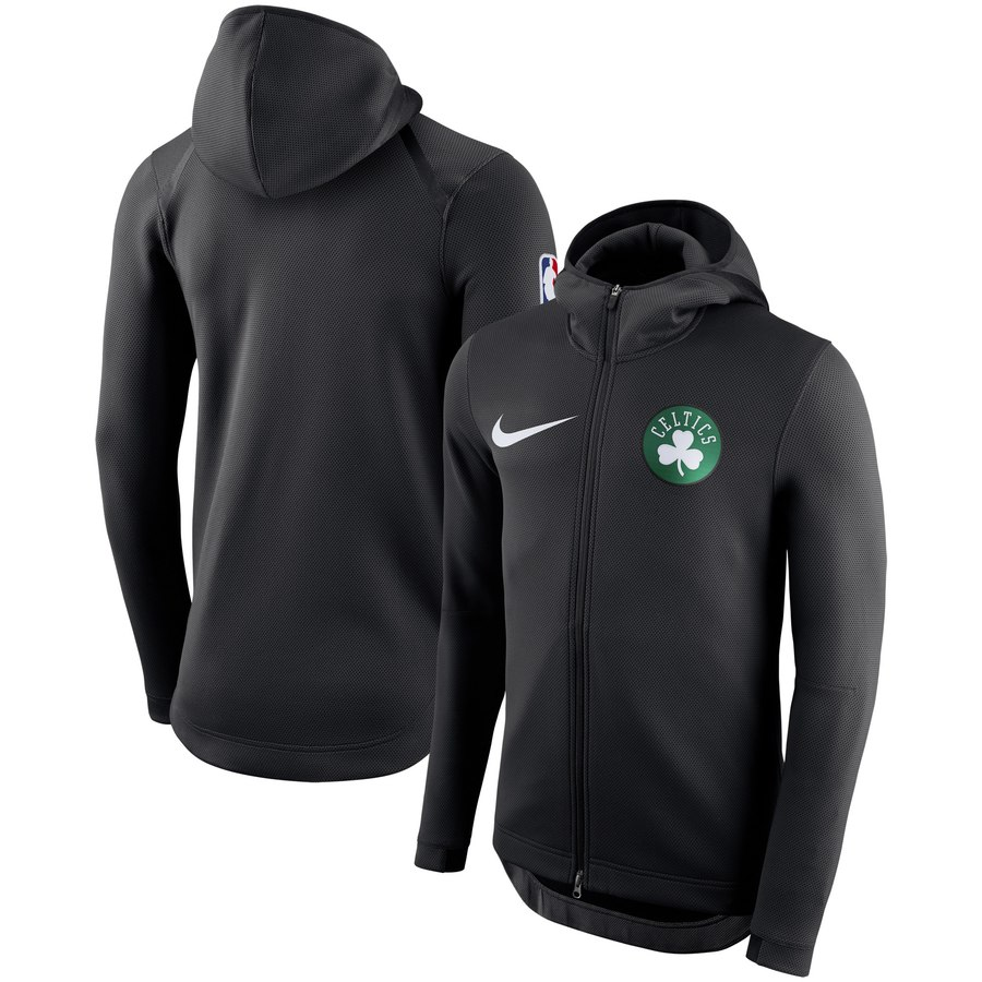 Boston Celtics Nike Showtime Therma Flex Performance Full Zip Hoodie Black