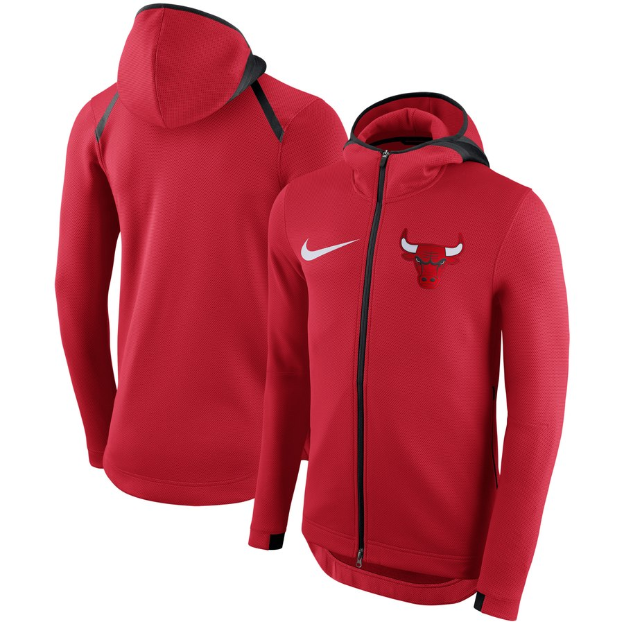 Chicago Bulls Nike Showtime Therma Flex Performance Full Zip Hoodie Red