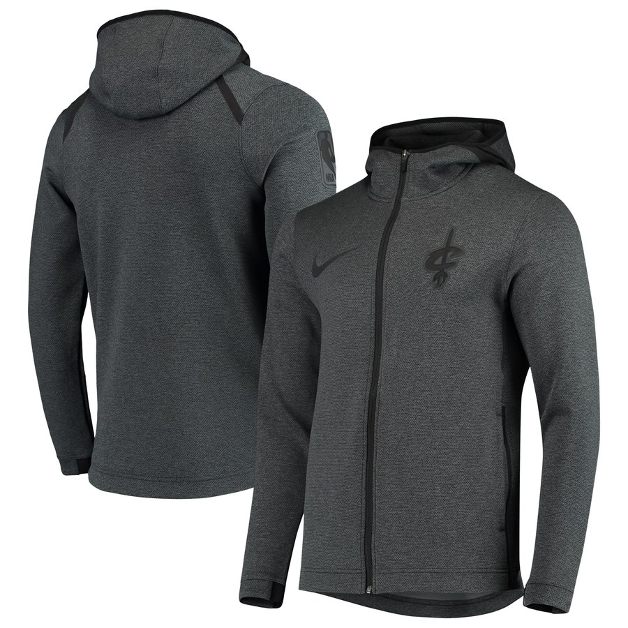 Cleveland Cavaliers Nike Showtime Tonal Therma Flex Performance Full Zip Hoodie Black