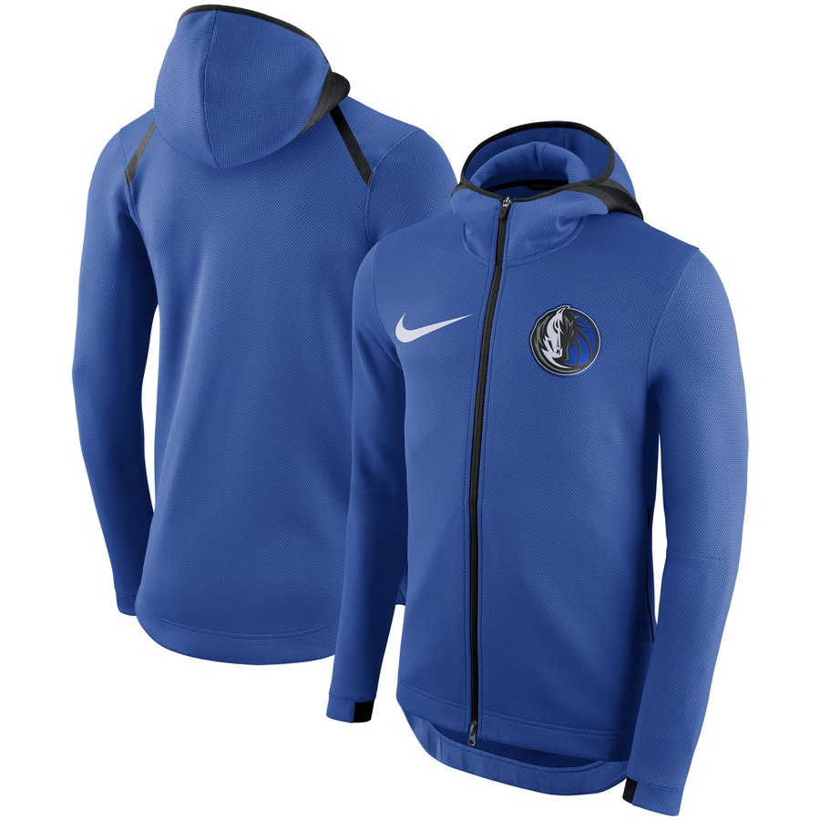 Dallas Mavericks Nike Showtime Therma Flex Performance Full Zip Hoodie Blue