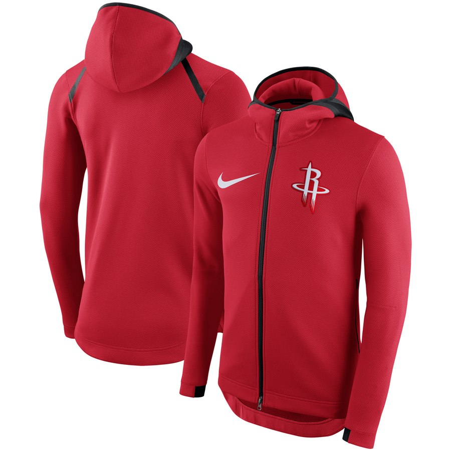 Houston Rockets Nike Showtime Therma Flex Performance Full Zip Hoodie Red
