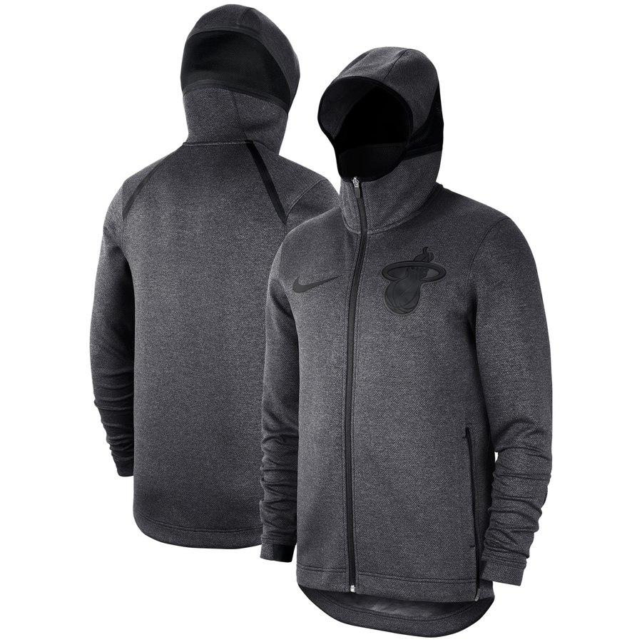 Miami Heat Nike Showtime Tonal Therma Flex Performance Full Zip Hoodie Black