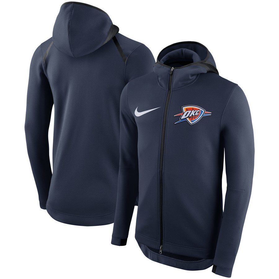 Oklahoma City Thunder Nike Showtime Therma Flex Performance Full Zip Hoodie Navy