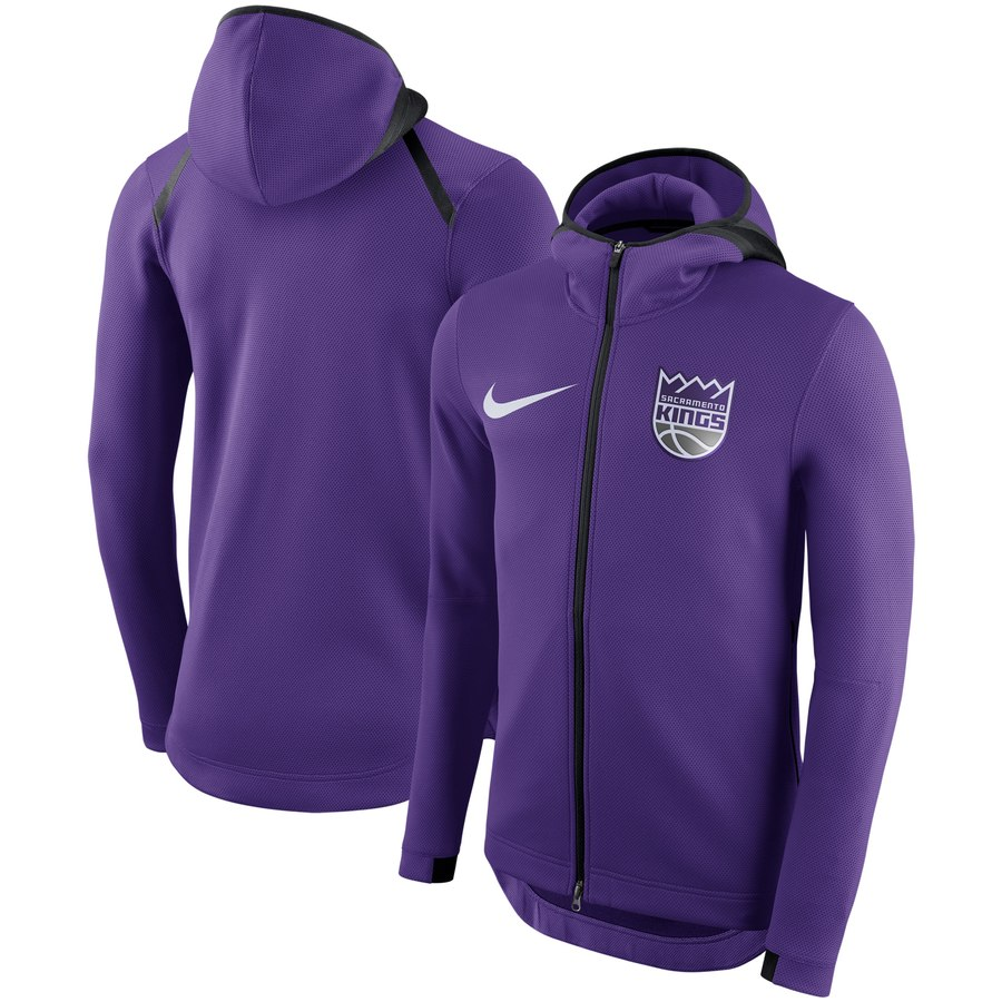 Sacramento Kings Nike Showtime Therma Flex Performance Full Zip Hoodie Purple