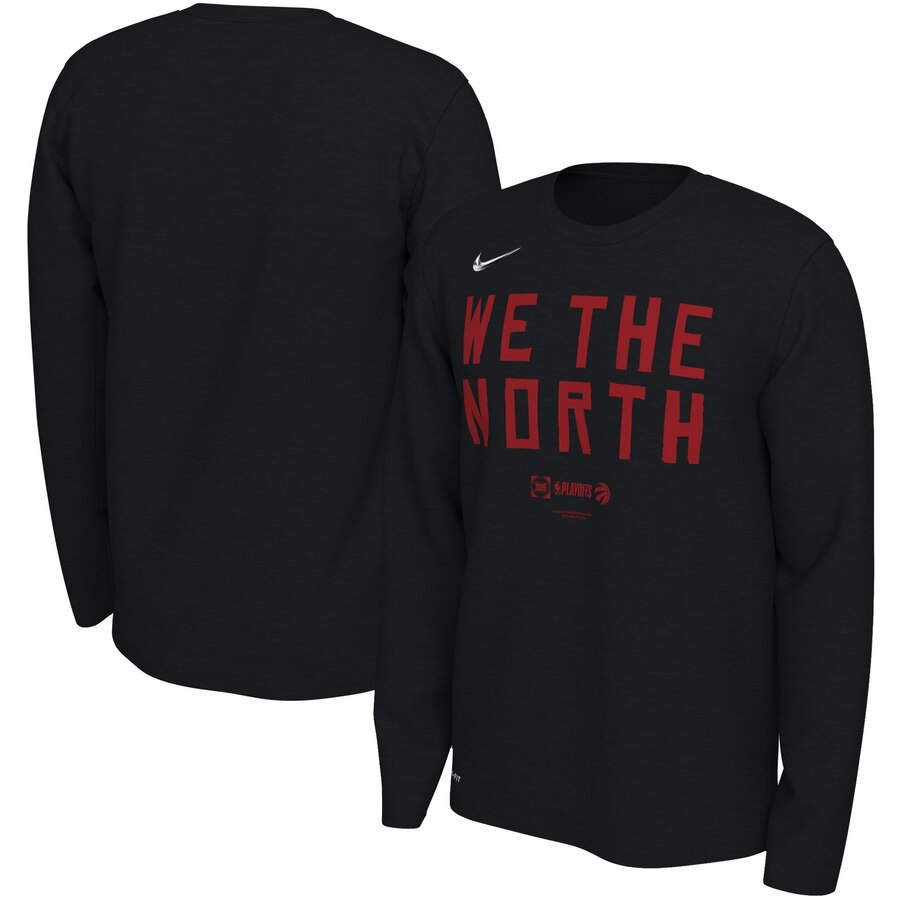 Toronto Raptors Nike 2019 NBA Playoffs Bound Team Mantra Dri FIT Long Sleeve T-Shirt Black