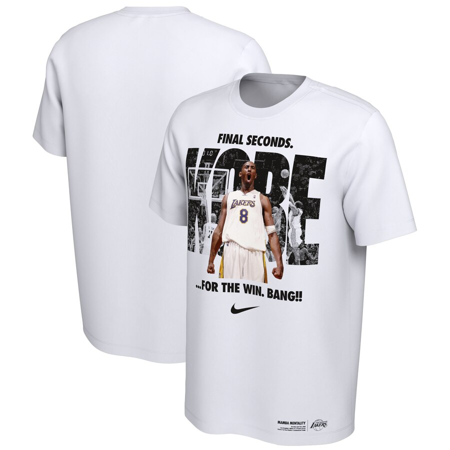 Kobe Bryant Los Angeles Lakers Nike Mamba Day T-Shirt White