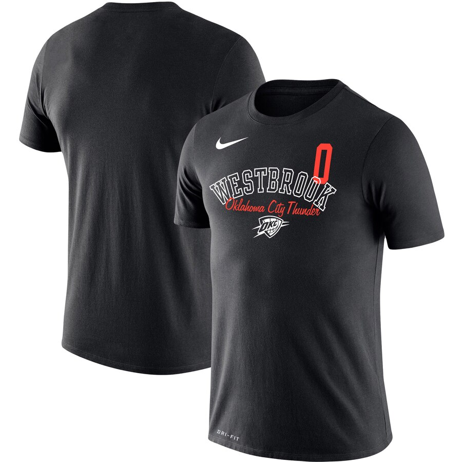 Russell Westbrook Oklahoma City Thunder Nike Player Performance T-Shirt Black