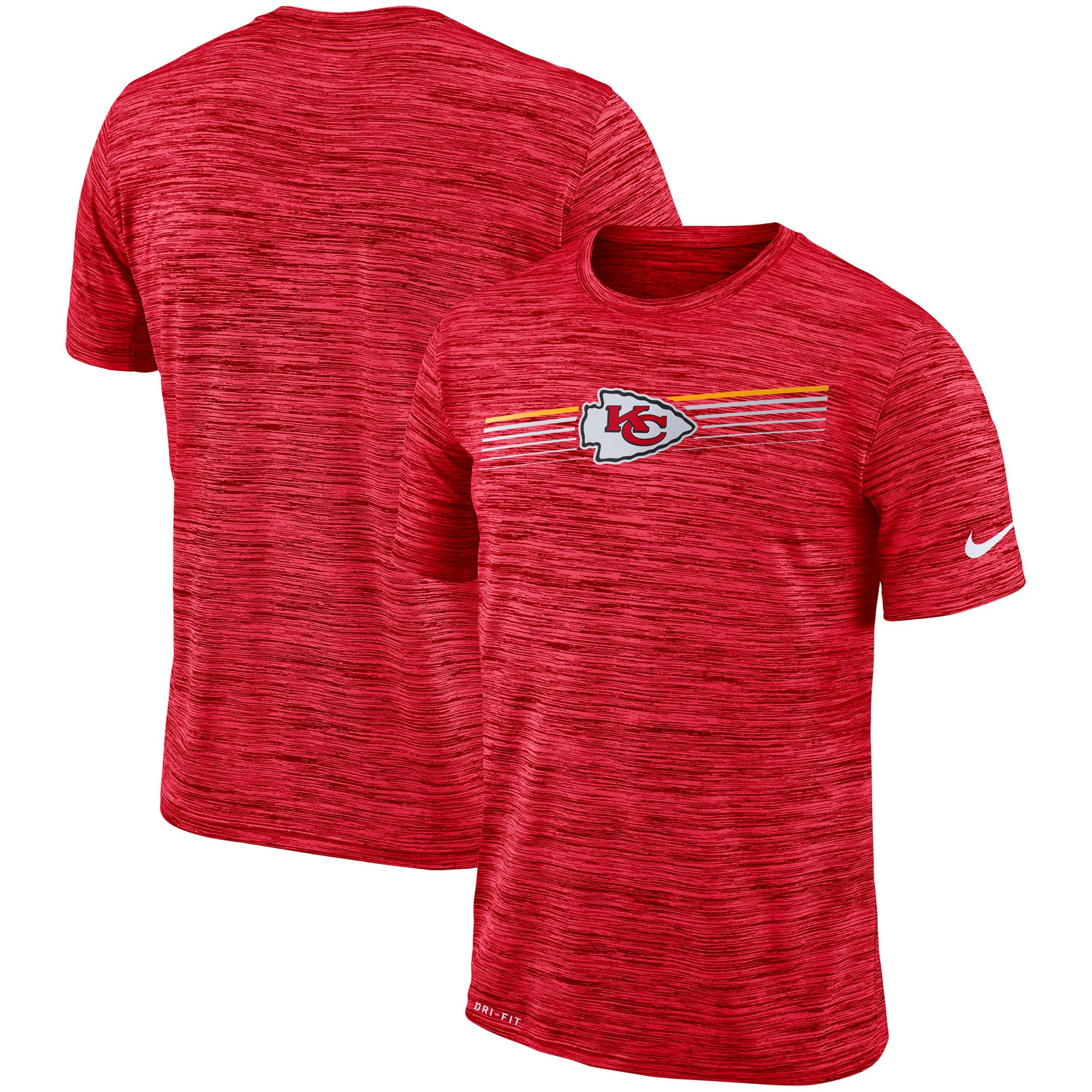 Kansas City Chiefs Nike Sideline Velocity Performance T-Shirt Heathered Red