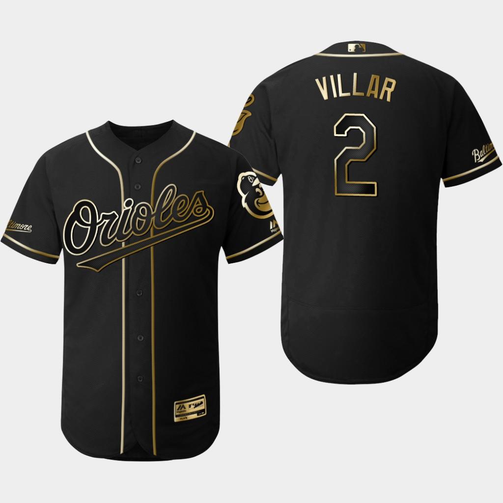 Orioles 2 Jonathan Villar Black Gold Flexbase Jersey