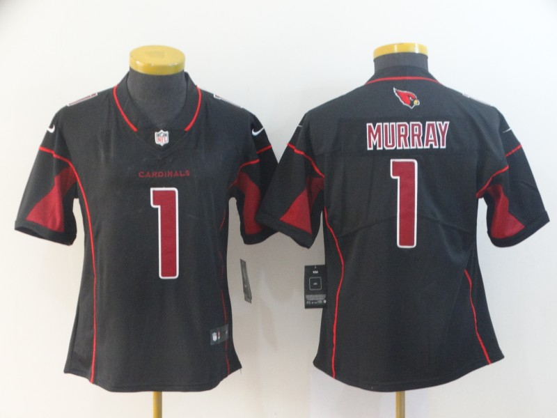 Nike Cardinals 1 Kyler Murray Black Women 2019 NFL Draft First Round Pick Color Rush Limited Jersey