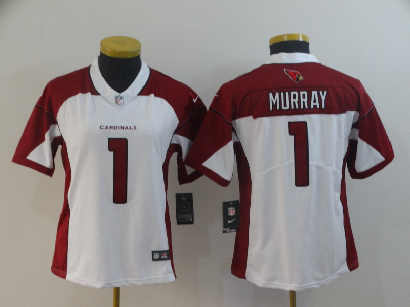 Nike Cardinals 1 Kyler Murray White Women 2019 NFL Draft First Round Pick Vapor Untouchable Limited Jersey