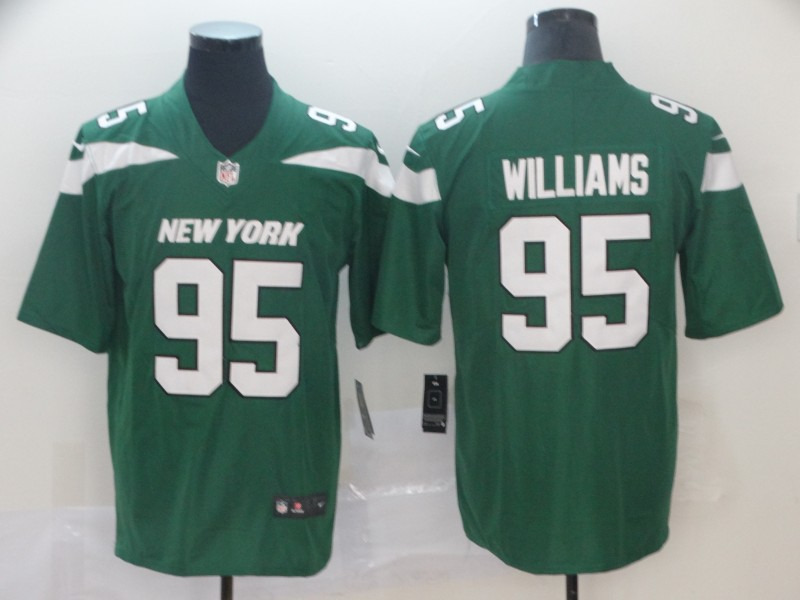 Jets 95 Quinnen Williams Green 2019 NFL Draft First Round Pick Vapor Untouchable Limited Jersey
