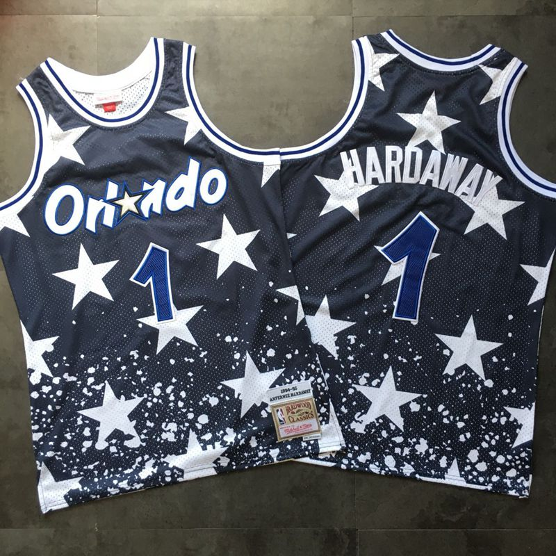 Magic 1 Anfernee Hardaway Navy 1994-95 Hardwood Classics Jersey